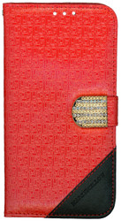 Samsung Galaxy S7 PLUS Design Wallet With Bling Red