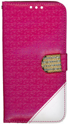 Samsung Galaxy S7 PLUS Design Wallet With Bling Pink