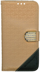 Samsung Galaxy S7 PLUS Design Wallet With Bling Light Brown