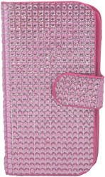 Samsung S3  Full Bling Wallet Pink