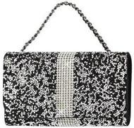 Universal Reiko Horizontal Bling Diamonds Pouch 5.5 In Black