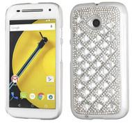 Motorola E2 LTE CDMA MYBAT Silver Desire Back Protector Cover