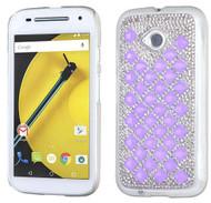 Motorola E2 LTE CDMA MYBAT Purple Desire Back Protector Cover