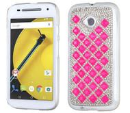 Motorola E2 LTE CDMA MYBAT Hot Pink Desire Back Protector Cover