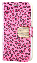 Samsung Prevail LTE G360 MYBAT Pink Leopard Skin MyJacket Wallet(with Diamante Belt)(with Package)