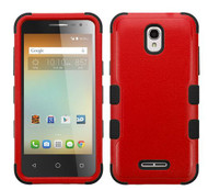 Alcatel Elevate MYBAT Natural Red/Black TUFF Hybrid Phone Protector Cover