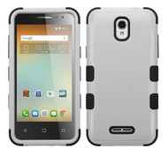 Alcatel Elevate MYBAT Natural Gray/Black TUFF Hybrid Phone Protector Cover