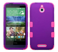 SOLD OUT HTC Desire 510 MYBAT Rubberized Grape/Electric Pink TUFF Hybrid Phone Protector Cover