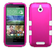 SOLD OUT HTC Desire 510 MYBAT Titanium Solid Hot Pink/Solid White TUFF Hybrid Phone Protector Cover