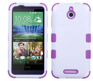 HTC Desire 510 MYBAT Ivory White/Electric Purple TUFF Hybrid Phone Protector Cover