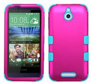 SOLD OUT HTC Desire 510 MYBAT Titanium Solid Hot Pink/Tropical Teal TUFF Hybrid Phone Protector Cover
