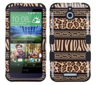 SOLD OUT HTC Desire 510 MYBAT Zebra Skin-Leopard Skin/Black TUFF Hybrid Phone Protector Cover