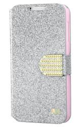 HTC Desire 510 MYBAT Silver Glittering MyJacket (with Diamante Belt)(with Package)