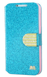 HTC Desire 510 MYBAT Blue Glittering MyJacket(with Diamante Belt)(593) (with Package)