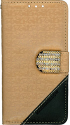 Huawei Union Design Wallet With Bling Light Brown
