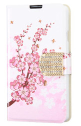 LG F60 MYBAT Spring Flowers MyJacket Wallet(with Diamante Belt)(with Packag