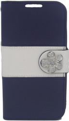 LG Optimus L90 MM Flower Wallet Navy