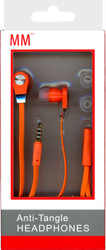 MM Anti-Tangle Headphones Orange