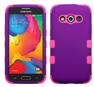SOLD OUT Samsung Galaxy Avant  MYBAT Rubberized Grape/Electric Pink TUFF Hybrid Phone Protector Cover