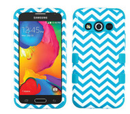 Samsung Galaxy Avant  MYBAT Blue Wave/Tropical Teal TUFF Hybrid Phone Protector Cover