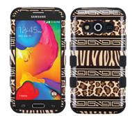 Samsung Galaxy Avant  MYBAT Zebra Skin-Leopard Skin/Black TUFF Hybrid Phone Protector Cover