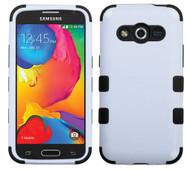 Samsung Galaxy Avant  MYBAT Ivory White/Black TUFF Hybrid Phone Protector Cover