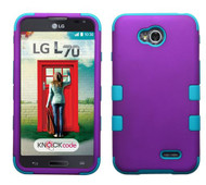SOLD OUT LG Optimus L70 MYBAT Rubberized Grape/Tropical Teal TUFF Hybrid Phone Protector Cover