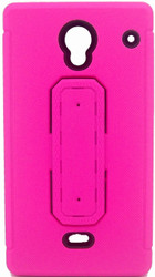 Sharp Aquos Crystal Snap Tail Hybrid Case With Kickstand Pink