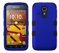 Kyocera Hydro Icon/ Life/ Vibe MYBAT Titanium Dark Blue/Black TUFF Hybrid Phone Protector Cover