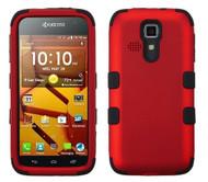 Kyocera Hydro Icon/ Life/ Vibe MYBAT Titanium Red/Black TUFF Hybrid Phone Protector Cover