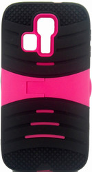 Kyocera Hydro Icon/ Life/ Vibe Armor Case With KickStand Pink&Black