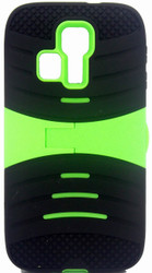 Kyocera Hydro Icon/ Life/ Vibe Armor Case With KickStand Green&Black