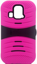 Kyocera Hydro Icon/ Life/ Vibe Armor Case With KickStand Pink
