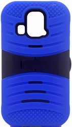 Kyocera Hydro Icon/ Life/ Vibe Armor Case With KickStand Blue