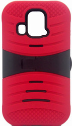 Kyocera Hydro Icon/ Life/ Vibe Armor Case With KickStand Red