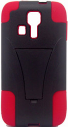 Kyocera Hydro Icon/ Life/ Vibe KickStand Red & Black