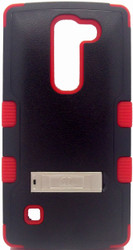 LG Spirit MYBAT Natural Black/Red TUFF Hybrid Phone Protector Cover (with Stand)