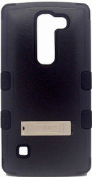 LG Spirit MYBAT Natural Black TUFF Hybrid Phone Protector Cover (with Stand)