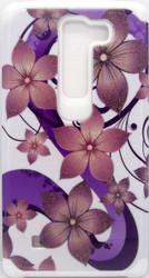 LG SpiritASMYNA Purple Hibiscus Flower Romance /White Advanced Armor Protector Cover