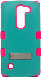 LG Escape MYBAT Natural Teal Green/Electric Pink TUFF Hybrid Phone Protector Cover(With Stand)