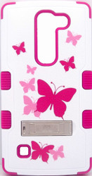 LG Escape  MYBAT Butterfly Dancing/Hot Pink TUFF Hybrid Phone Protector Cover (with Stand)