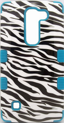 LG Escape MYBAT Zebra Skin/Tropical Teal TUFF Hybrid Phone Protector Cover