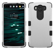 LG V10 MYBAT Natural Gray/Black TUFF Hybrid Phone Protector Cover