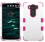 LG V10 MYBAT Natural Cream White/Hot Pink TUFF Hybrid Phone Protector Cover