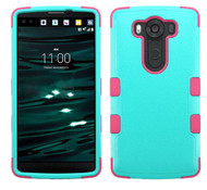 LG V10 MYBAT Natural Teal Green/Electric Pink TUFF Hybrid Phone Protector Cover