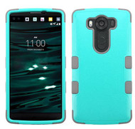 LG V10 MYBAT Natural Teal Green/Iron Gray TUFF Hybrid Phone Protector Cover