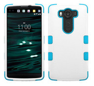 LG V10 MYBAT Natural Ivory White/Tropical Teal TUFF Hybrid Phone Protector Cover