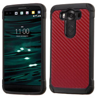 LG V10 ASMYNA Red Carbon-Fiber Backing/Black Astronoot Phone Protector Cover