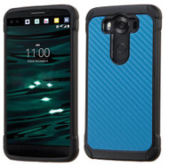 LG V10 ASMYNA Blue Carbon-Fiber Backing/Black Astronoot Phone Protector Cover