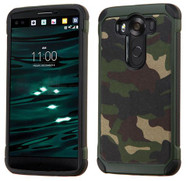 LG V10 ASMYNA Camouflage Green Backing/Black Astronoot Phone Protector Cover
